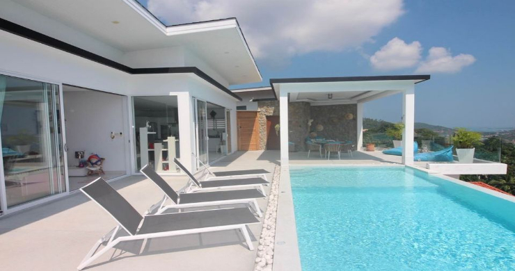 New 3 Bed Modern Sea View Villa in Chaweng Hills-5