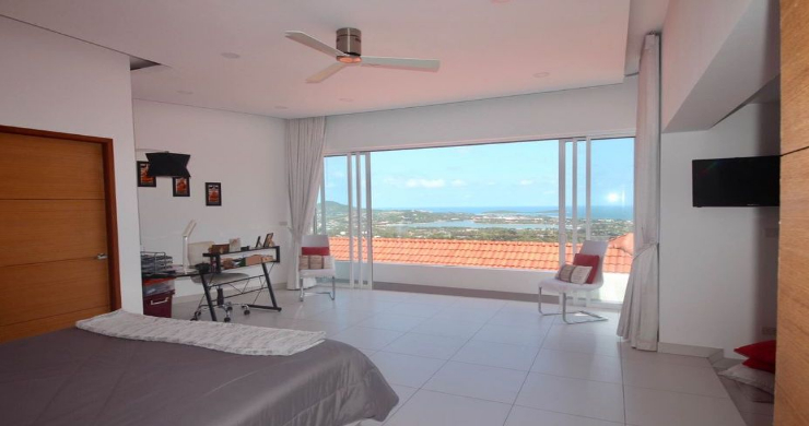 New 3 Bed Modern Sea View Villa in Chaweng Hills-11