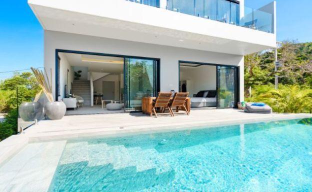 Lovely 3 Bedroom Sea View Pool Villa in Plai Laem