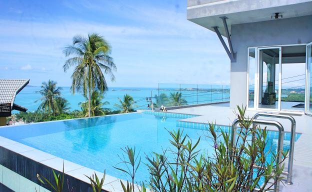 Modern 3 Bedroom Luxury Sea-view Villa in Bophut