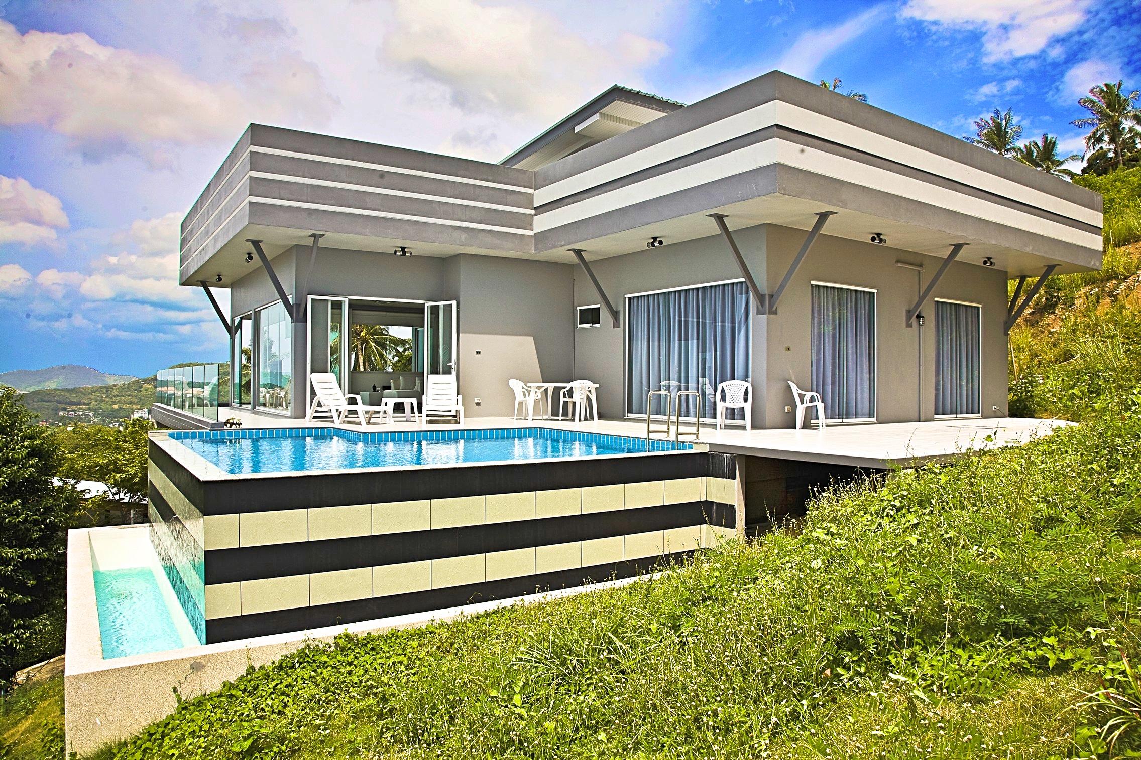 Modern 3 Bedroom Luxury Sea-view Villa in Bophut-1