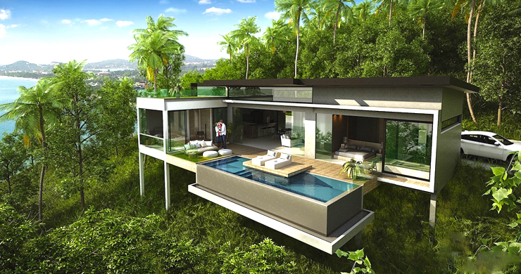 Modern 2 Bedroom Sea View Villa in Chaweng Noi-1