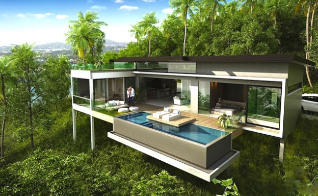 Modern 2 Bedroom Sea View Villa in Chaweng Noi