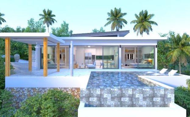 Luxury 2 Bedroom Sea View Pool Villas in Maenam