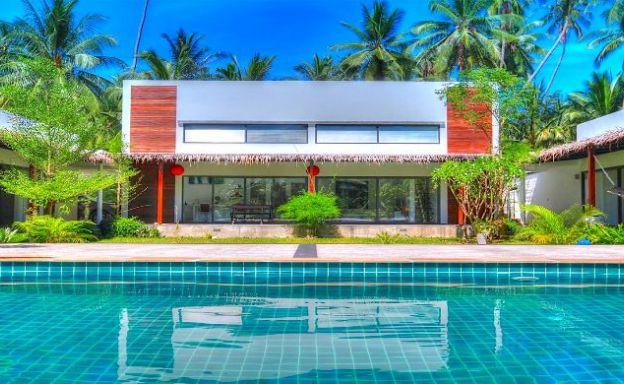 Tropical 4 Bedroom Private Pool Villa in Srithanu