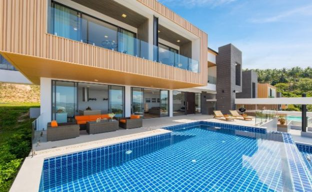 Stylish Luxury 3 Bed Sea View Villa in Chaweng Noi