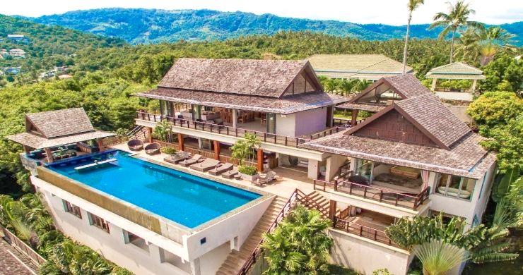 Lavish 5 Bedroom Tropical Sea View Villa in Bophut-1
