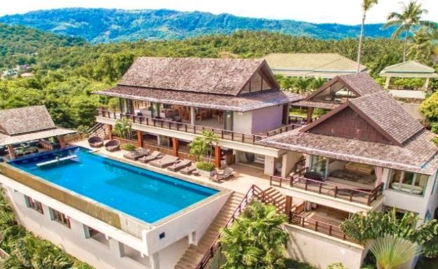 Lavish 5 Bedroom Tropical Sea View Villa in Bophut