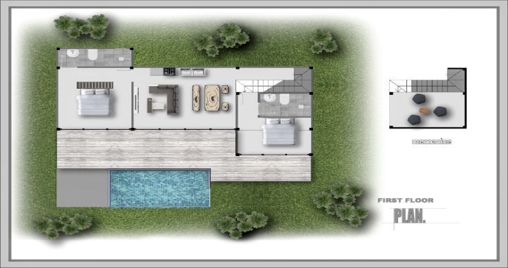 New Eco 2-3 Bed Pool Modern Villas in Koh Phangan-5