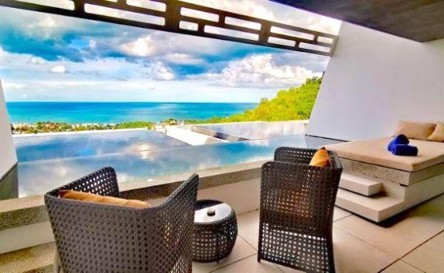 Sea View 2 Bedroom Modern Villa on Chaweng Hills
