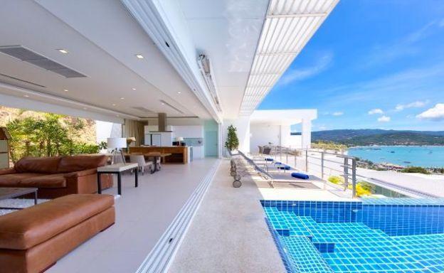 Sleek Designer 4 Bed Sea View Villa in Big Buddha