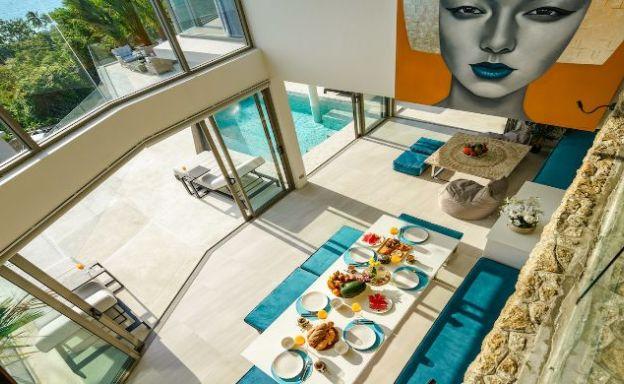 Minimalistic 4 Bedroom Sea View Villa in Chaweng Noi