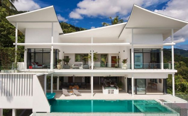 Stylish 4 Bedroom Luxury Sea View Villa in Lamai