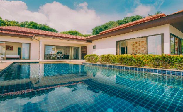 Modern 3 Bed Sea-view Villa + 1 Apartment in Lamai