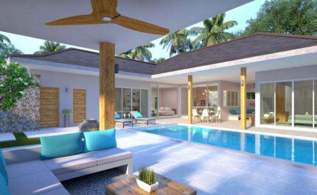 Tropical 2 Bedroom Pool Villas for Sale in Lamai