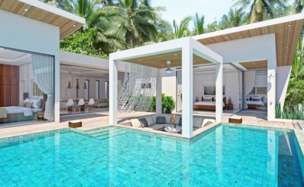 Panoramic 4 Bed Luxury Sea View Villas in Chaweng