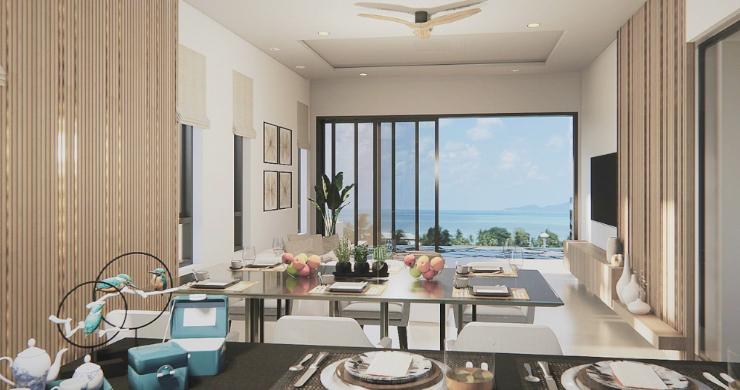 New 3 Bed Sea View Luxury Pool Villas in Bophut-11