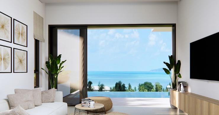 New 3 Bed Sea View Luxury Pool Villas in Bophut-13
