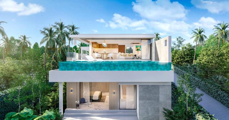 New 3 Bed Sea View Luxury Pool Villas in Bophut-8