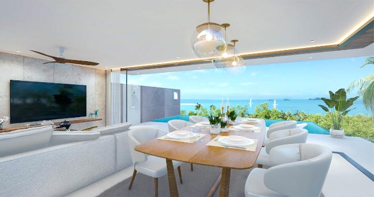 New 3 Bed Sea View Luxury Pool Villas in Bophut-10