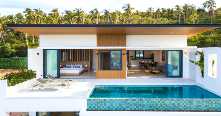 New 3 Bed Sea View Luxury Pool Villas in Bophut-1