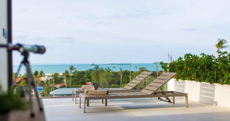 New 3 Bed Sea View Luxury Pool Villas in Bophut-7