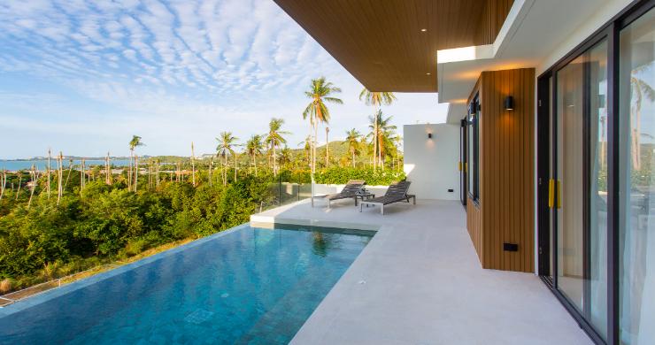 New 3 Bed Sea View Luxury Pool Villas in Bophut-4