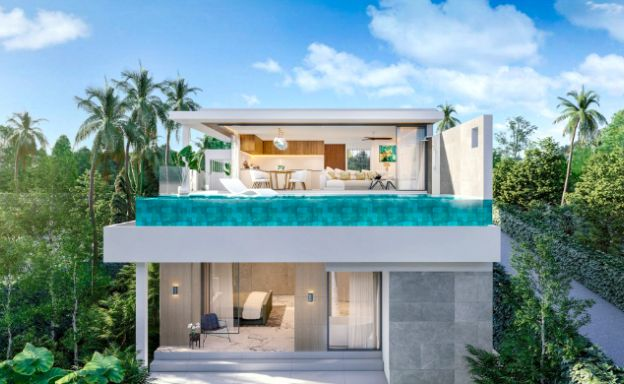 New 3 Bed Sea View Luxury Pool Villas in Bophut