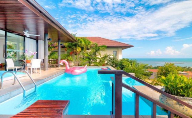 Tropical Modern 3 Bedroom Sea View Villa in Lamai