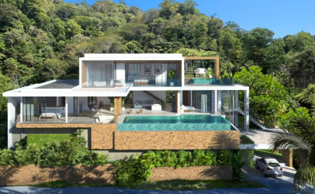 Beautiful 4 Bedroom Sea View Villa in Chaweng Noi