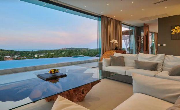 Unique 5 Bedroom Luxury Sea View Villa in Plai Laem