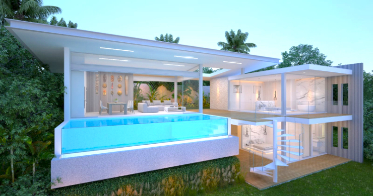 Spectacular 3-4 Bed Sea View Villas in Chaweng Noi-1