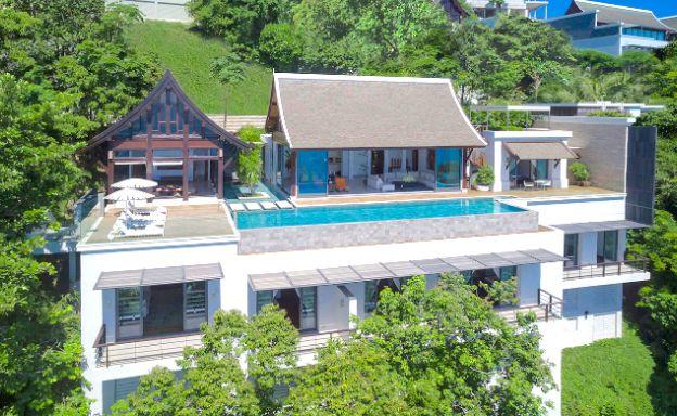 Luxury 5 Bed Sea View Beachside Villa in Phuket