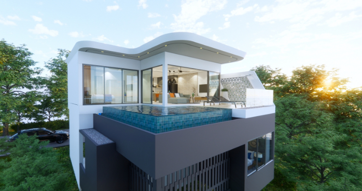 Luxury 3 Bed Villa Sea View Residence in Chaweng Noi-2