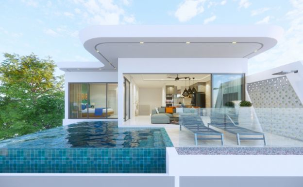 Luxury 3 Bed Villa Sea View Residence in Chaweng Noi