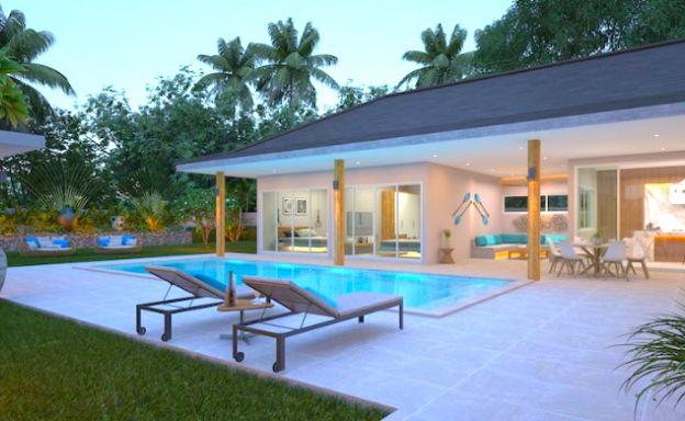 Tropical 3 Bedroom Pool Villas for Sale in Lamai