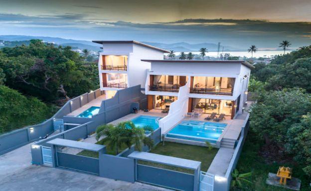Modern 3 Bedroom Sea View Pool Villas in Plai Laem