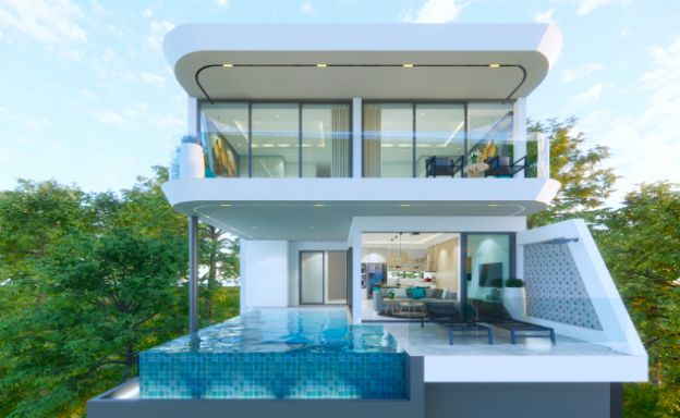 Luxury 3 Bed Sea View Villa Project in Chaweng Noi