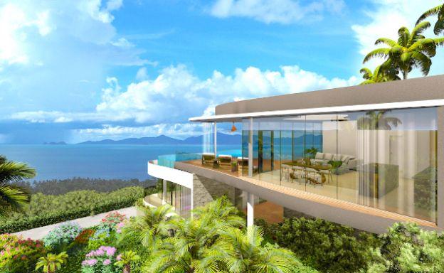 New Ultra-Modern 3 Bed Seaview Villa in Bang Por