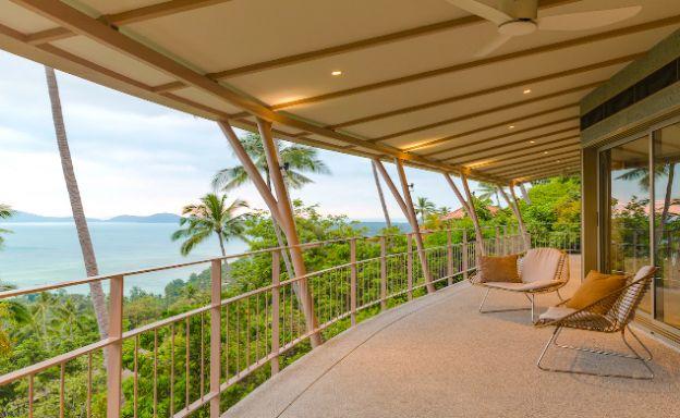 Hillside 4 Bedroom Luxury Sea View Villa in Laem Set