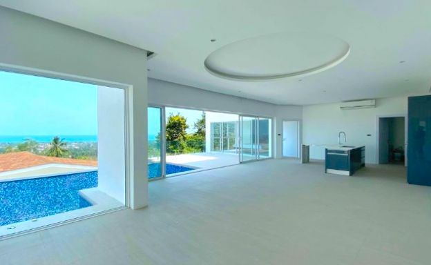New Modern 3 Bed Sea View Pool Villa in Chaweng