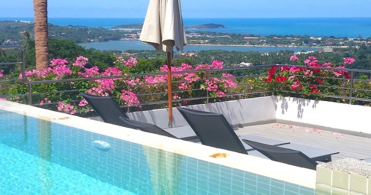 Tropical 4 Bedroom Sea-view Villa In Chaweng Hills-16