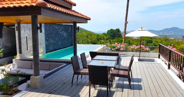 Tropical 4 Bedroom Sea-view Villa In Chaweng Hills-10