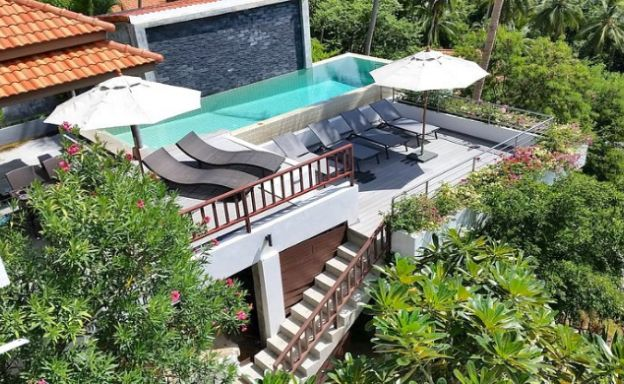 Tropical 4 Bedroom Sea-view Villa In Chaweng Hills