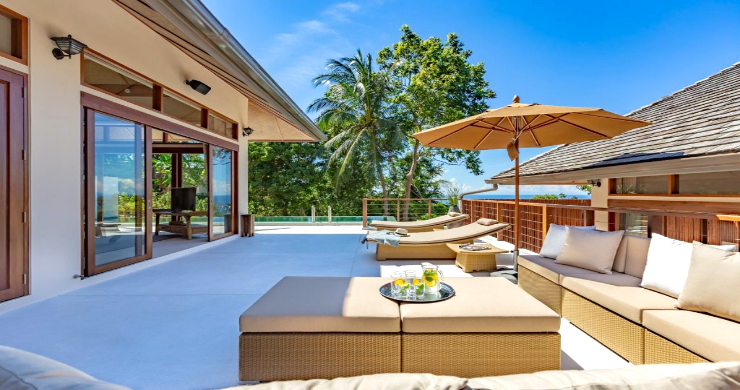 Thai Style 4 Bed Modern Sea View Villa in Haad Salad-6
