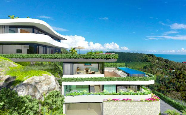 New Modern 3 Bedroom Sea-view Villas in Bangpor
