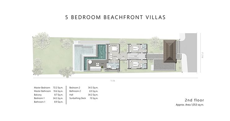 Super Luxury 5 Bed Beachfront Pool Villa in Phuket-14