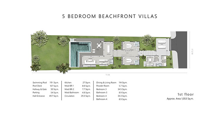 Super Luxury 5 Bed Beachfront Pool Villa in Phuket-15