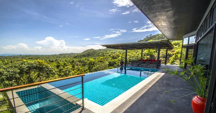 Tropical 3 Bedroom Sea View Villa in Koh Phangan-2