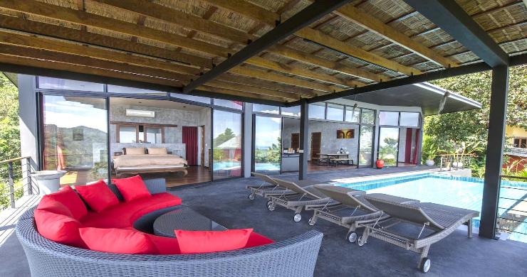Tropical 3 Bedroom Sea View Villa in Koh Phangan-6